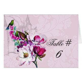 Cartão Cartões personalizados magnólia do número da mesa