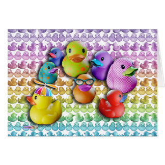 CARTÕES - pop art de borracha de Duckies