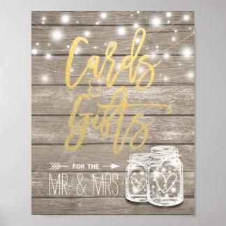 Cartões & presentes que Wedding o frasco de Pôster