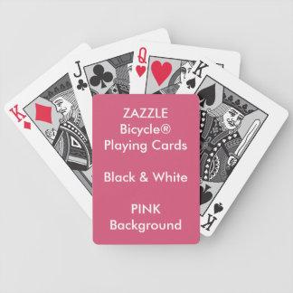 Cartões pretos & brancos de Bicycle® feito sob Baraloho De Pôquer