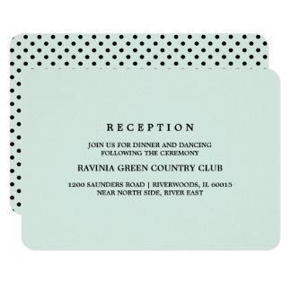 Cartões pretos da recepção de casamento das