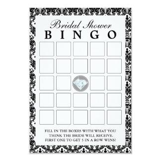 Cartões pretos do Bingo do chá de panela do Convite 8.89 X 12.7cm