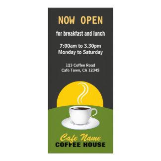 Cartões pretos e verdes da loja do menu do café do 10.16 x 22.86cm panfleto