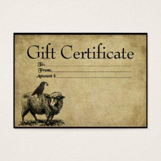 Cartões Prim do certificado de presente da pilha