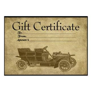 Cartões Prim móveis do certificado de presente de Cartão De Visita Grande