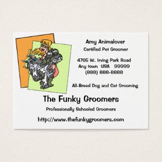 Cartões profissionais da preparação do cão e gato