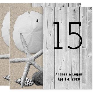 Cartões quadrados do número da mesa do passeio à convite quadrado 13.35 x 13.35cm