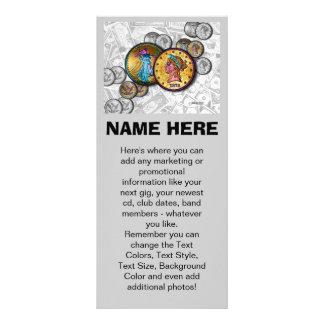 Cartões relativos à promoção da cremalheira - 10.16 x 22.86cm panfleto