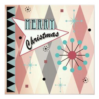 Cartões retro/convite do Natal 01
