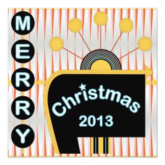 Cartões retro/convite do Natal 02