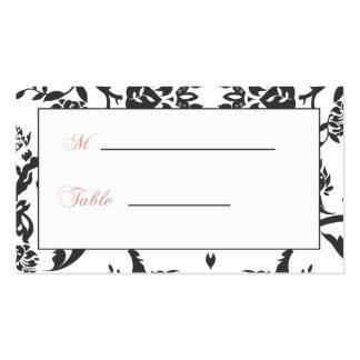 Cartões romances do assento da recepção cartão de visita