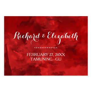 Cartões romances do lugar do casamento da aguarela cartão de visita grande