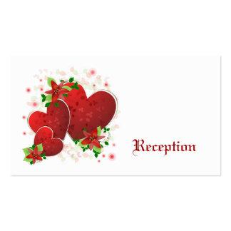 Cartões romances vermelhos da recepção dos coraçõe cartoes de visita