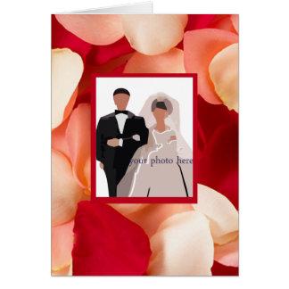 Cartões românticos do quadro da foto da pétala