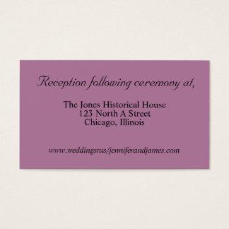 Cartões roxos do cerco do casamento