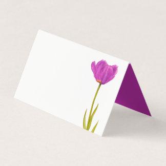 Cartões roxos do lugar do convidado da arte da