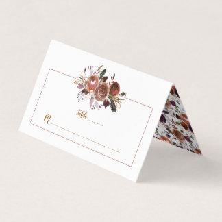 Cartões roxos do lugar do rum da manteiga da