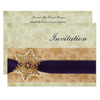 cartões roxos rústicos do convite do casamento no