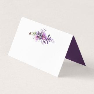 Cartão De Mesa Cartões roxos violetas do lugar dos Wildflowers da