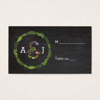 Cartões rústicos da escolta do casamento das
