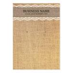 Cartões rústicos da exposição de serapilheira & de cartões de visitas