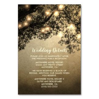 Cartões rústicos da inserção do casamento do ramo
