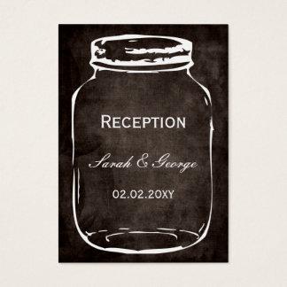cartões rústicos da recepção de casamento do