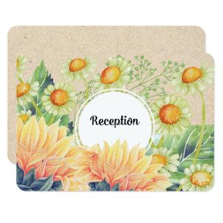 Cartões rústicos da recepção de casamento dos