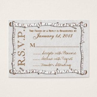 Cartões rústicos das madeiras de vidoeiro RSVP (PK