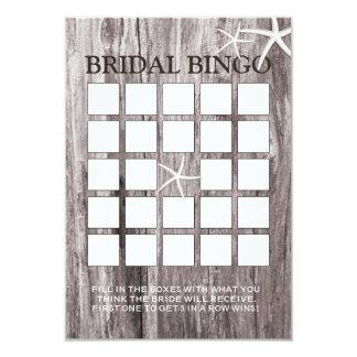 Cartões rústicos do Bingo do chá de panela da Convite 8.89 X 12.7cm