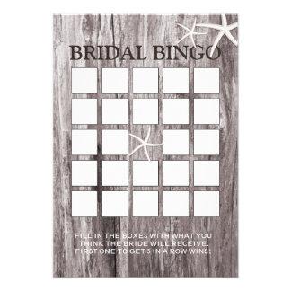 Cartões rústicos do Bingo do chá de panela da made Convite
