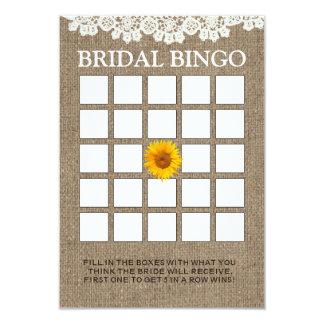 Cartões rústicos do Bingo do chá de panela de Convite 8.89 X 12.7cm
