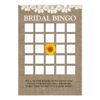 Cartões rústicos do Bingo do chá de panela de sera Convites Personalizado