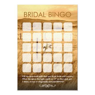 Cartões rústicos do Bingo do chá de panela do país Convite 8.89 X 12.7cm