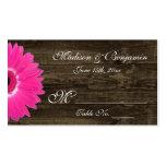Cartões rústicos do lugar do casamento da cartão de visita