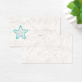 Cartões rústicos do lugar do casamento da estrela
