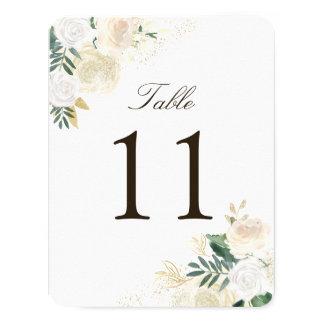 Cartões rústicos românticos do número da mesa da convite 10.79 x 13.97cm