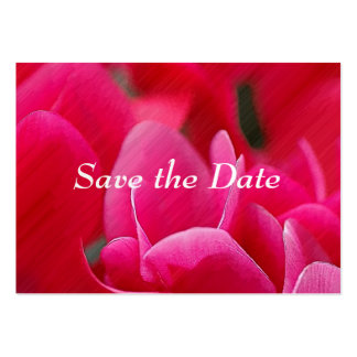 """""""Cartões salve a data das flores cor-de-rosa"""" Cartões De Visita"""