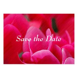 """""""Cartões salve a data das flores cor-de-rosa"""" Cartão De Visita Grande"""