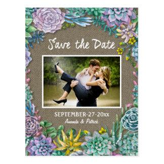 Cartões salve a data do casamento de serapilheira