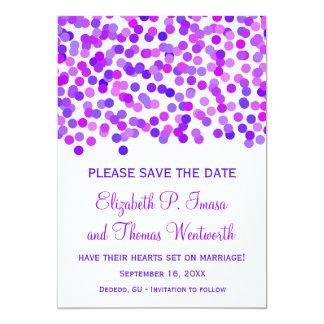 Cartões salve a data do casamento dos confetes convite personalizados