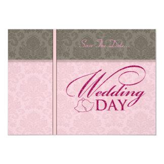Cartões salve a data do dia de casamento vintage convite personalizado