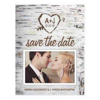 Cartões salve a data rústicos do casamento do