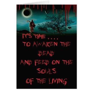 Cartões sangrentos do Dia das Bruxas do Ceifador