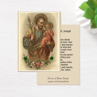 Cartões santamente da oração bonita de St Joseph