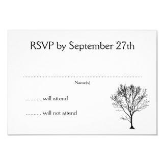 Cartões simples do branco do convite RSVP da