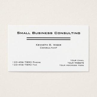 Cartões simples do consultor empresarial