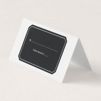 Cartões simplesmente elegantes do lugar do preto