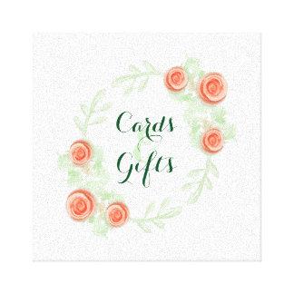 Cartões & sinal dos presentes - beira cor-de-rosa