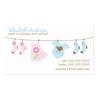 Cartões telefónicos das mamães do Clothesline do b Modelo Cartões De Visita